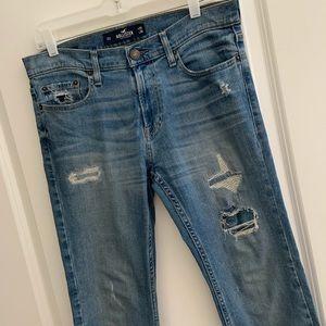 Hollister Skinny Fit Distressed Epic Flex Jeans 30